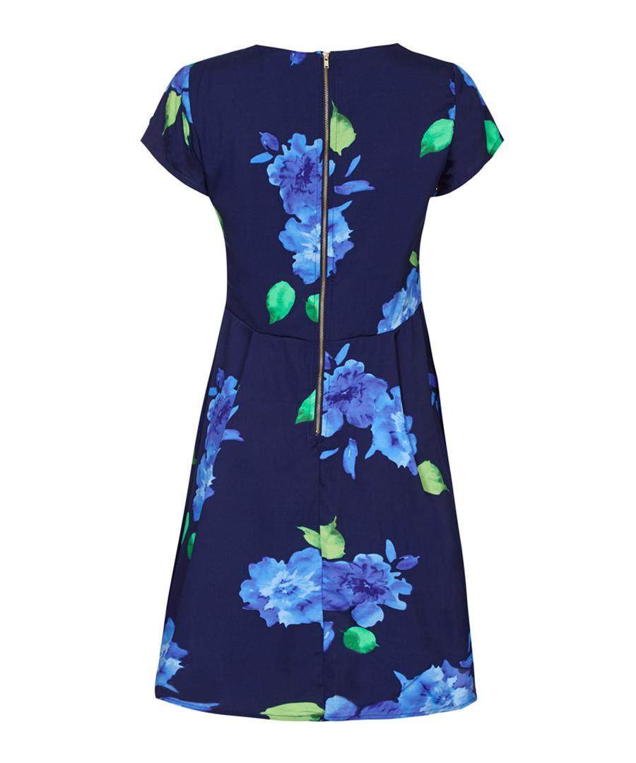 Navy floral print cap sleeve dress Sale - yumi