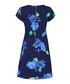Navy floral print cap sleeve dress Sale - yumi Sale