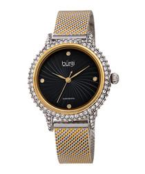 Two-tone steel & diamond bezel watch
