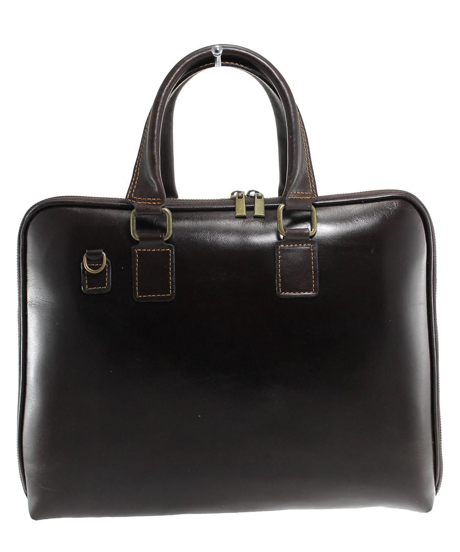 Cocoa leather satchel bag Sale - Chicca Borse