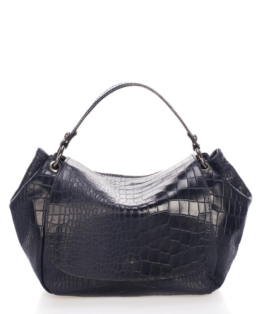 Elle navy moc-croc leather shoulder bag Sale - scui studios