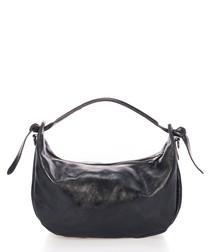 Chanel black leather grab bag