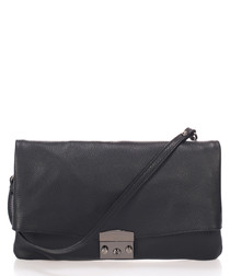 Cindy black leather crossbody