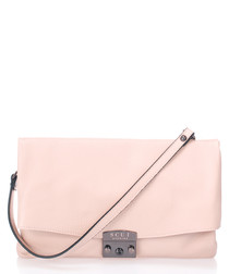 Cindy pink leather crossbody
