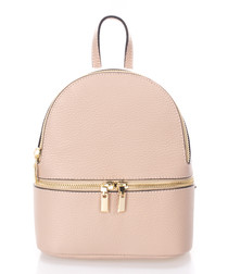 Lana pink leather backpack