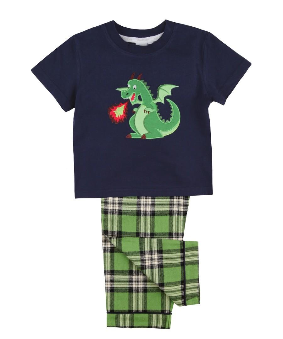 Boys Dragon Summer Pyjamas Sale - Mini Vanilla