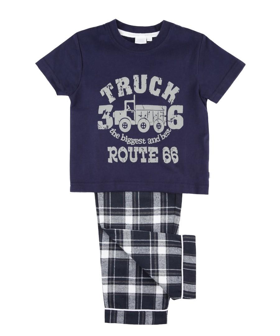 Boys Summer Route 66 Truck Pyjamas Sale - Mini Vanilla