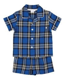 Boys Traditional Shortie Pyjamas.