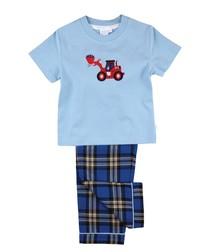 Boys Tractor Summer Pyjamas