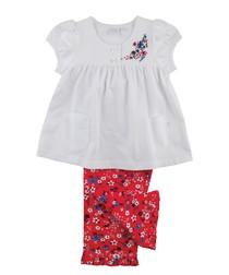Girls Summer Floral Pyjamas