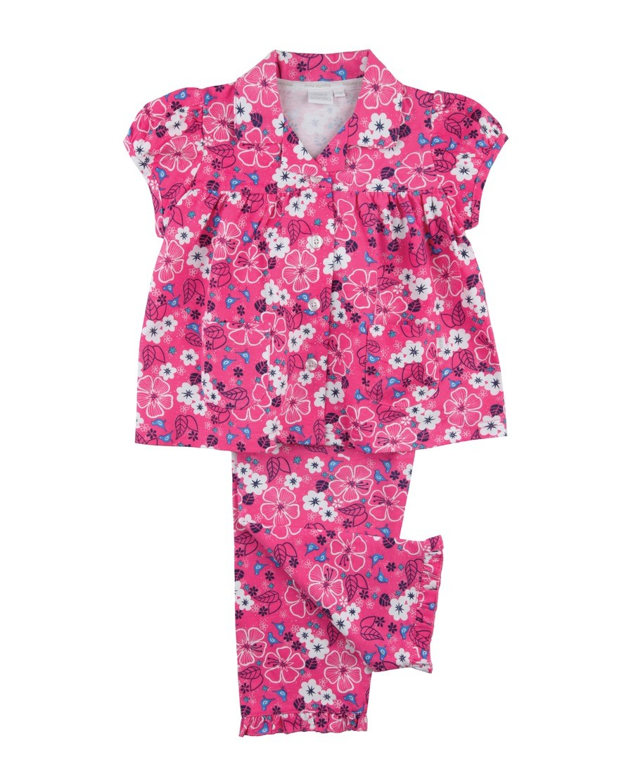 Girls Traditional Jersey Pyjamas Sale - Mini Vanilla