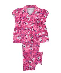 Girls Traditional Jersey Pyjamas