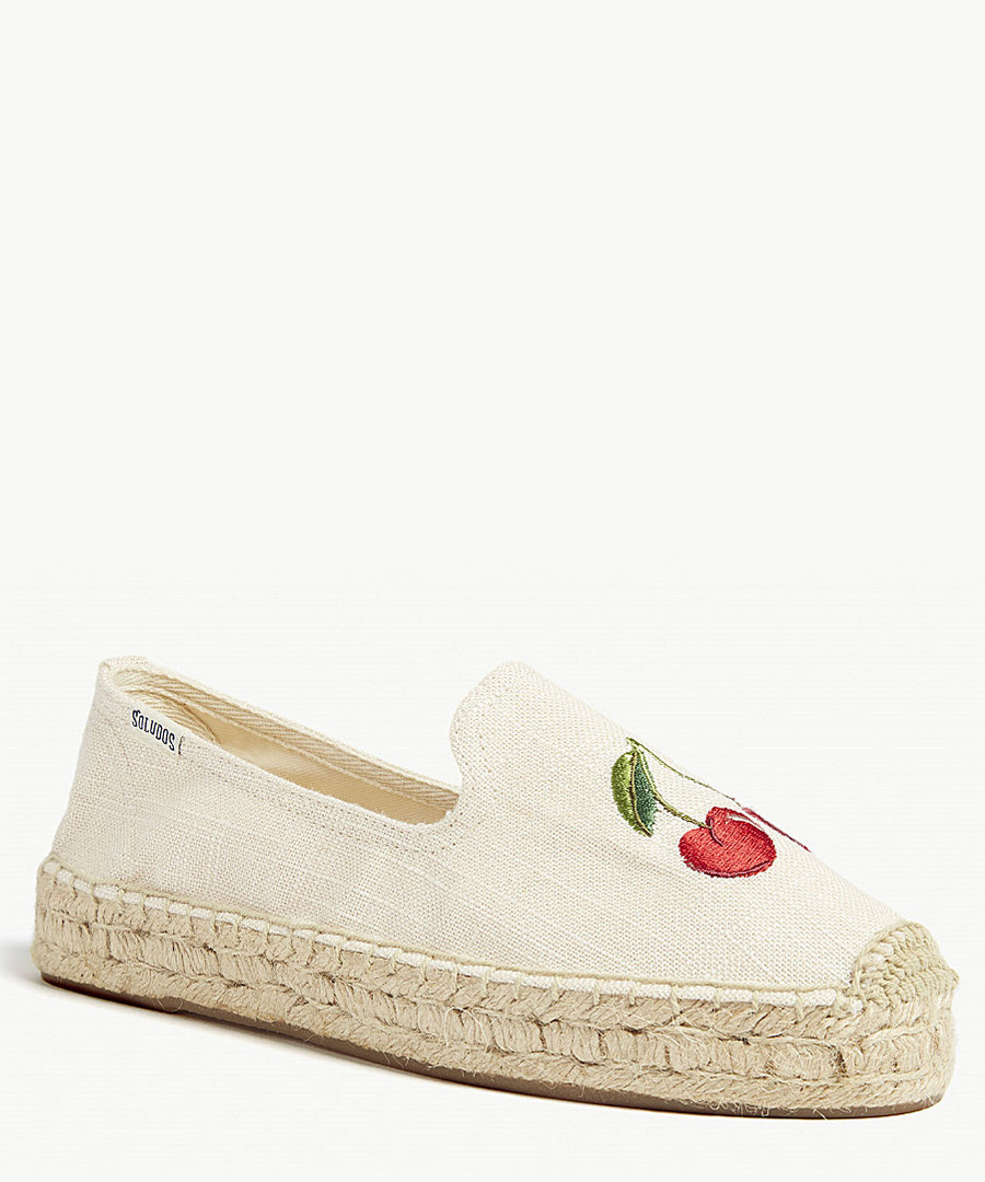 Embroidered cherry espadrilles Sale - Soludos