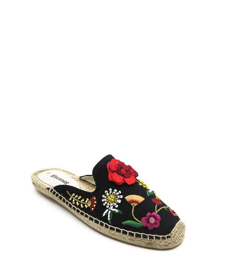 Floral embellished espadrille mules Sale - SOLUDOS