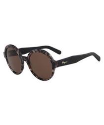 grey Havana round sunglasses