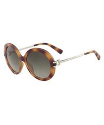 Havana round sunglasses
