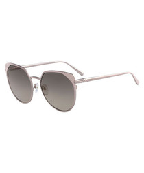 rose metal rounded sunglasses
