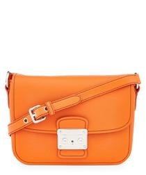 Papaya leather crossbody bag
