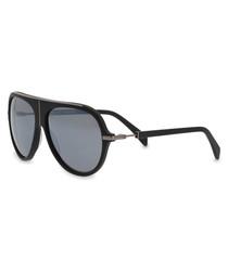 black gradient pilot sunglasses