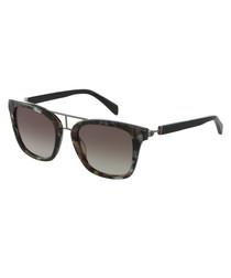 grey Havana squared sunglasses