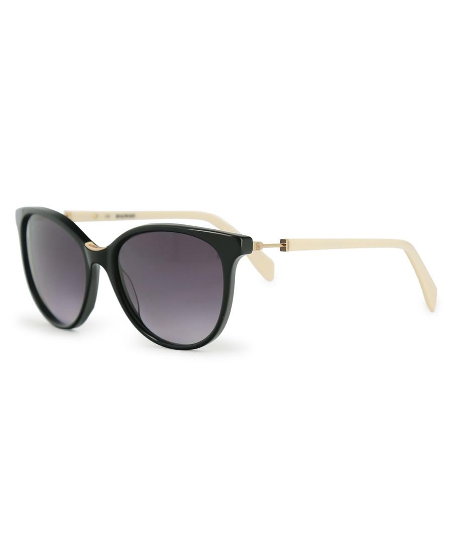 black rounded D-frame sunglasses Sale - balmain