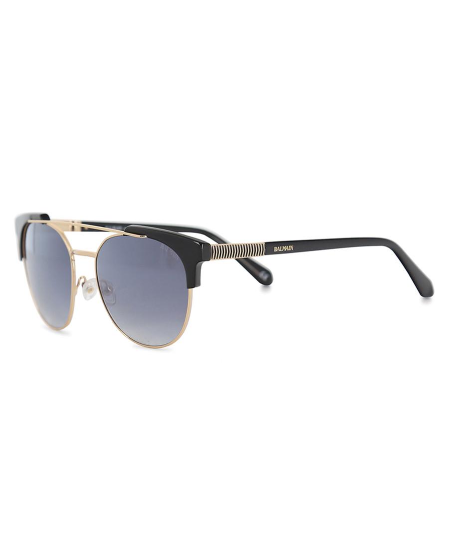 black & gold-tone round sunglasses Sale - balmain