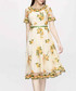 Yellow floral print midi dress Sale - lanelle Sale
