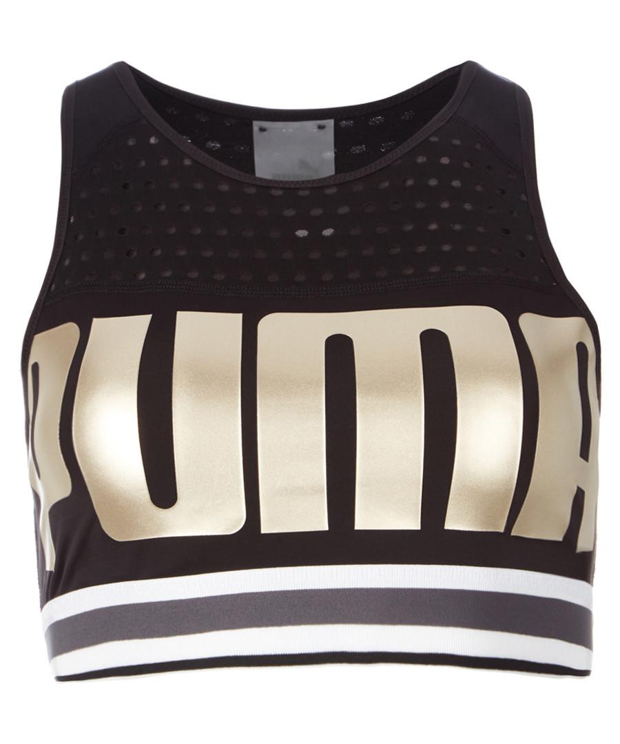 Black logo sports bra Sale - puma