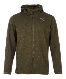 N.R.G. khaki full-zip jacket