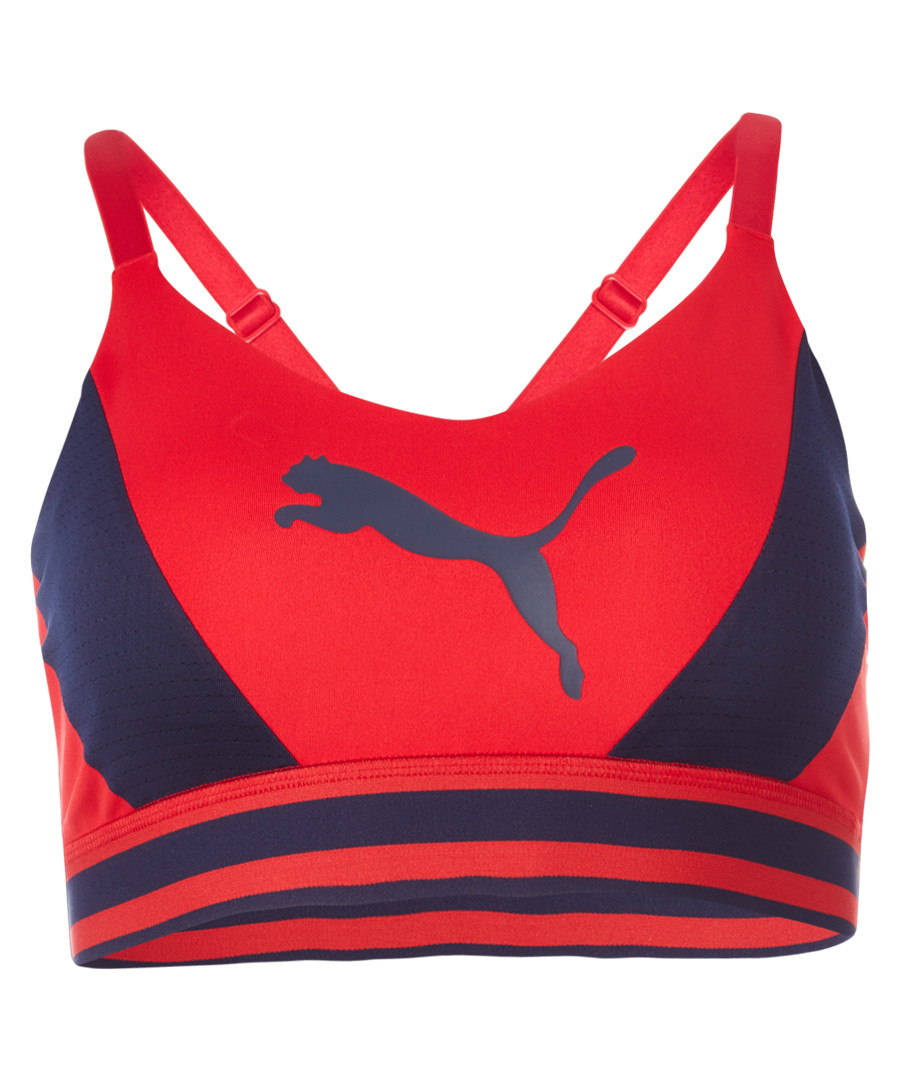Logo red sports bra Sale - puma