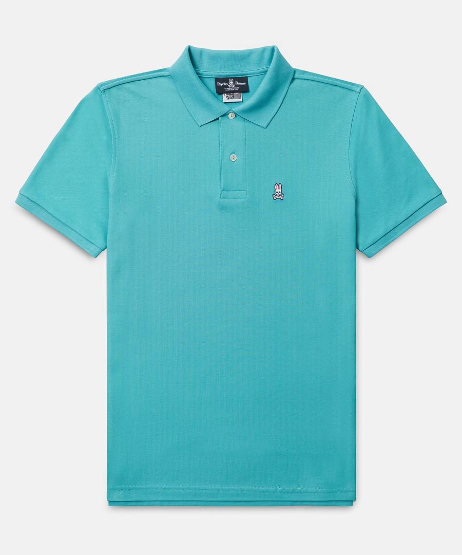 Classic turquoise cotton polo shirt Sale - psychobunny