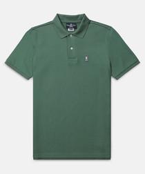 Classic pine cotton polo shirt