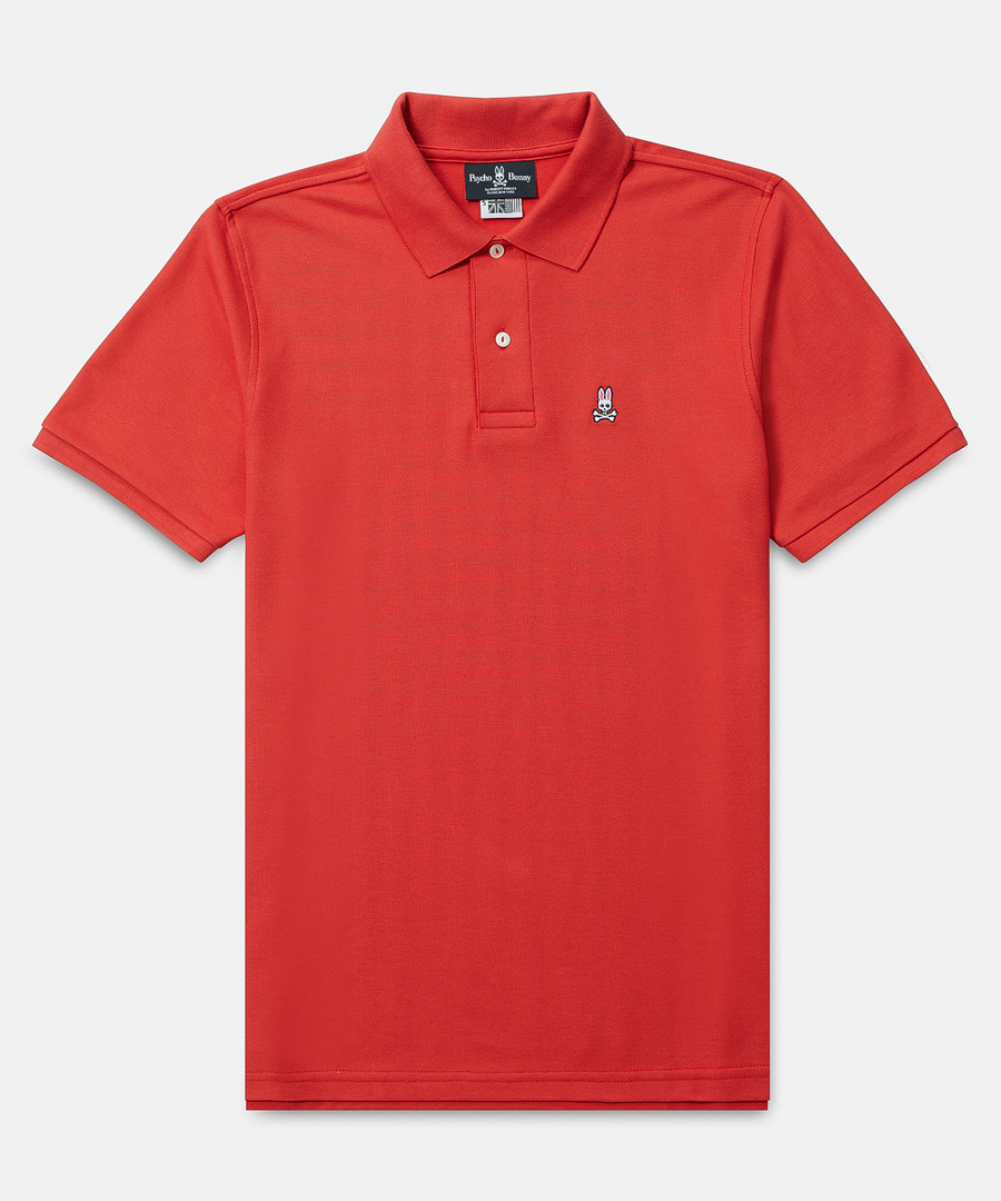 Classic red cotton polo shirt Sale - psychobunny
