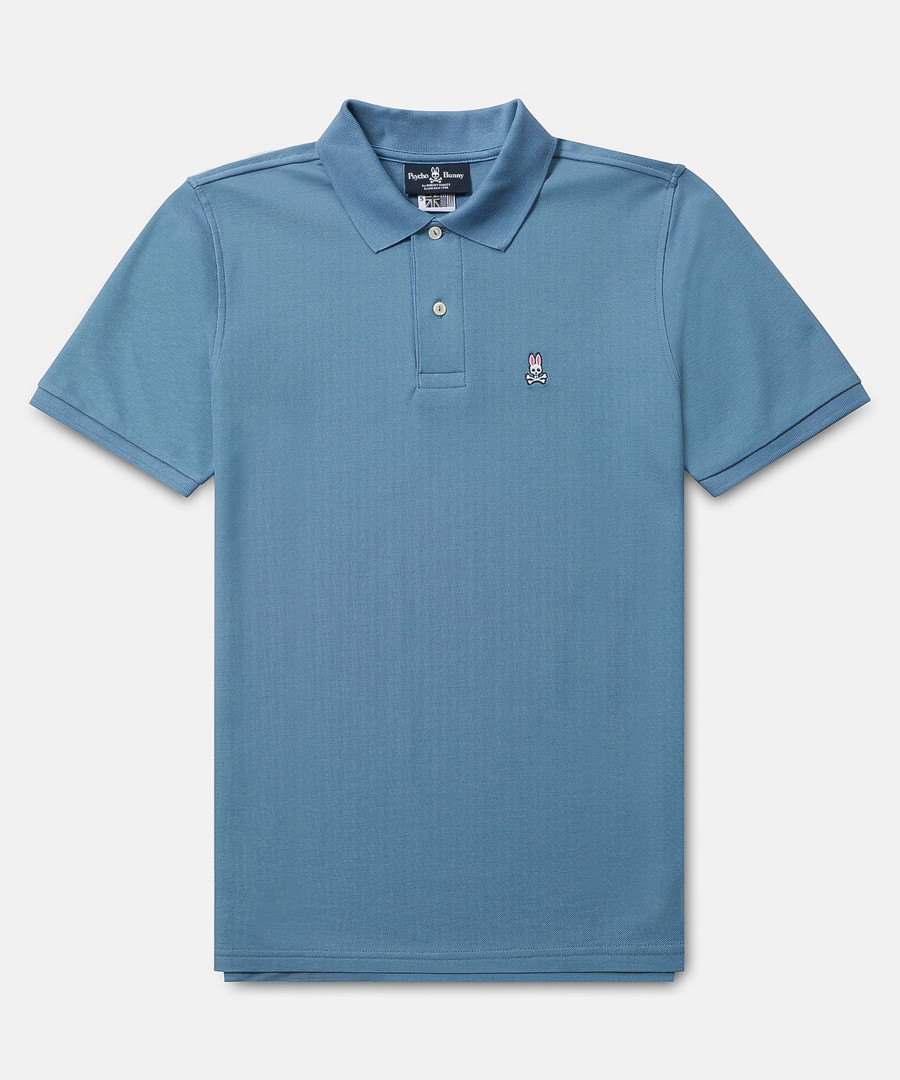 Classic blue cotton polo shirt Sale - psycho bunny