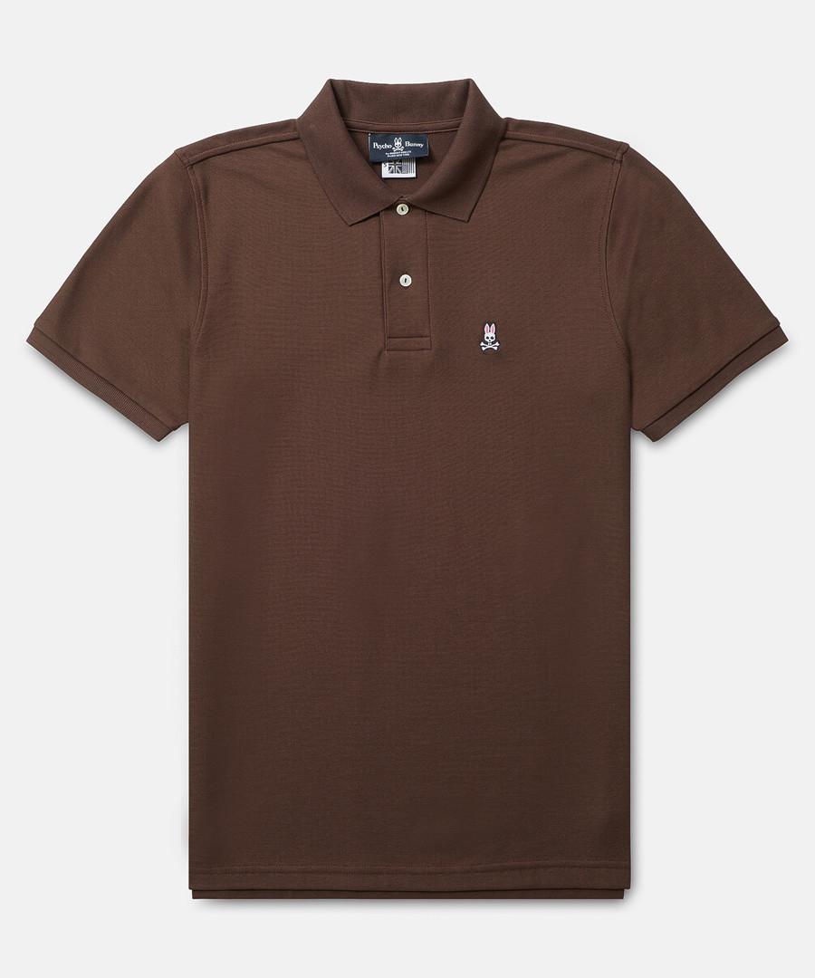 Classic coffee cotton polo shirt Sale - psychobunny