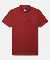 Classic maroon cotton polo shirt
