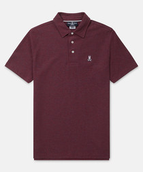 Classic burgundy cotton polo shirt