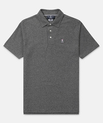Classic charcoal cotton polo shirt
