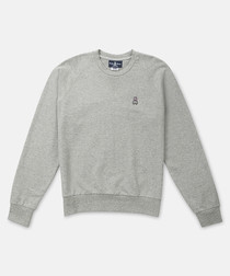 Donegal grey pure cotton jumper