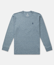 Classic pewter pure cotton jumper
