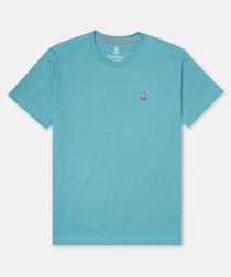 Classic aqua pure cotton T-shirt