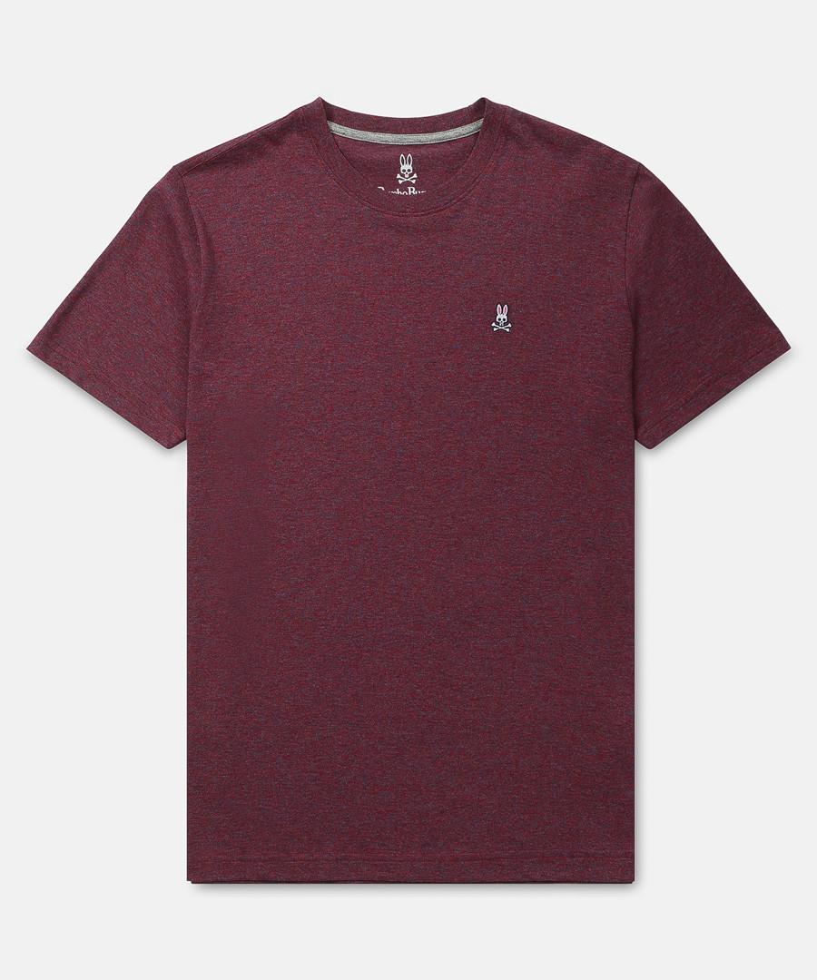 Classic burgundy pure cotton T-shirt Sale - psychobunny