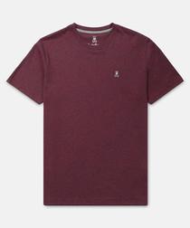 Classic burgundy pure cotton T-shirt