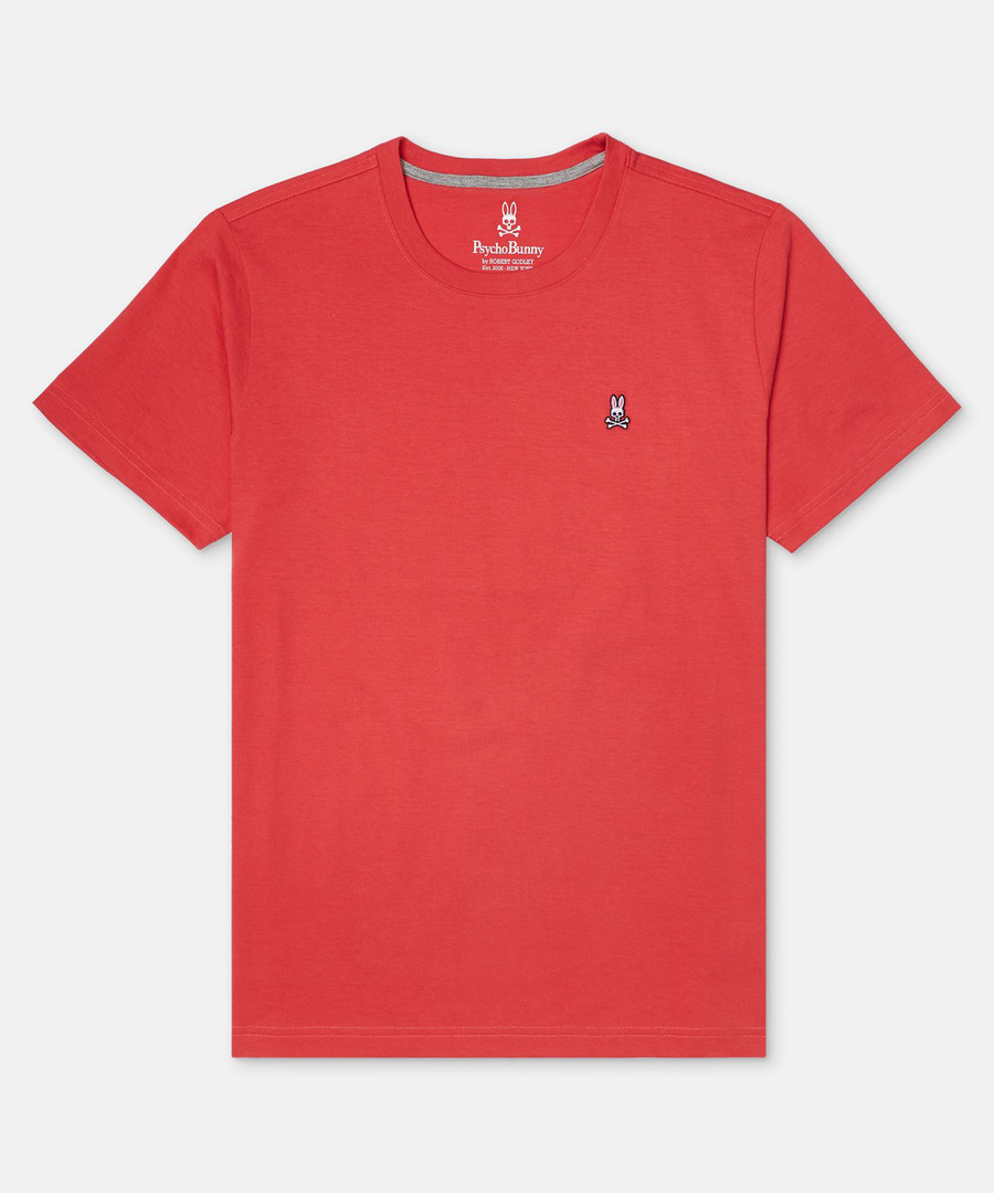 Classic red pure cotton T-shirt Sale - Psycho Bunny