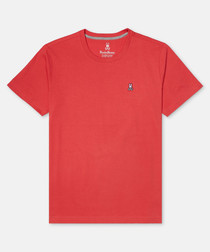 Classic red pure cotton T-shirt