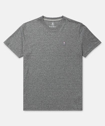 Classic grey pure cotton T-shirt