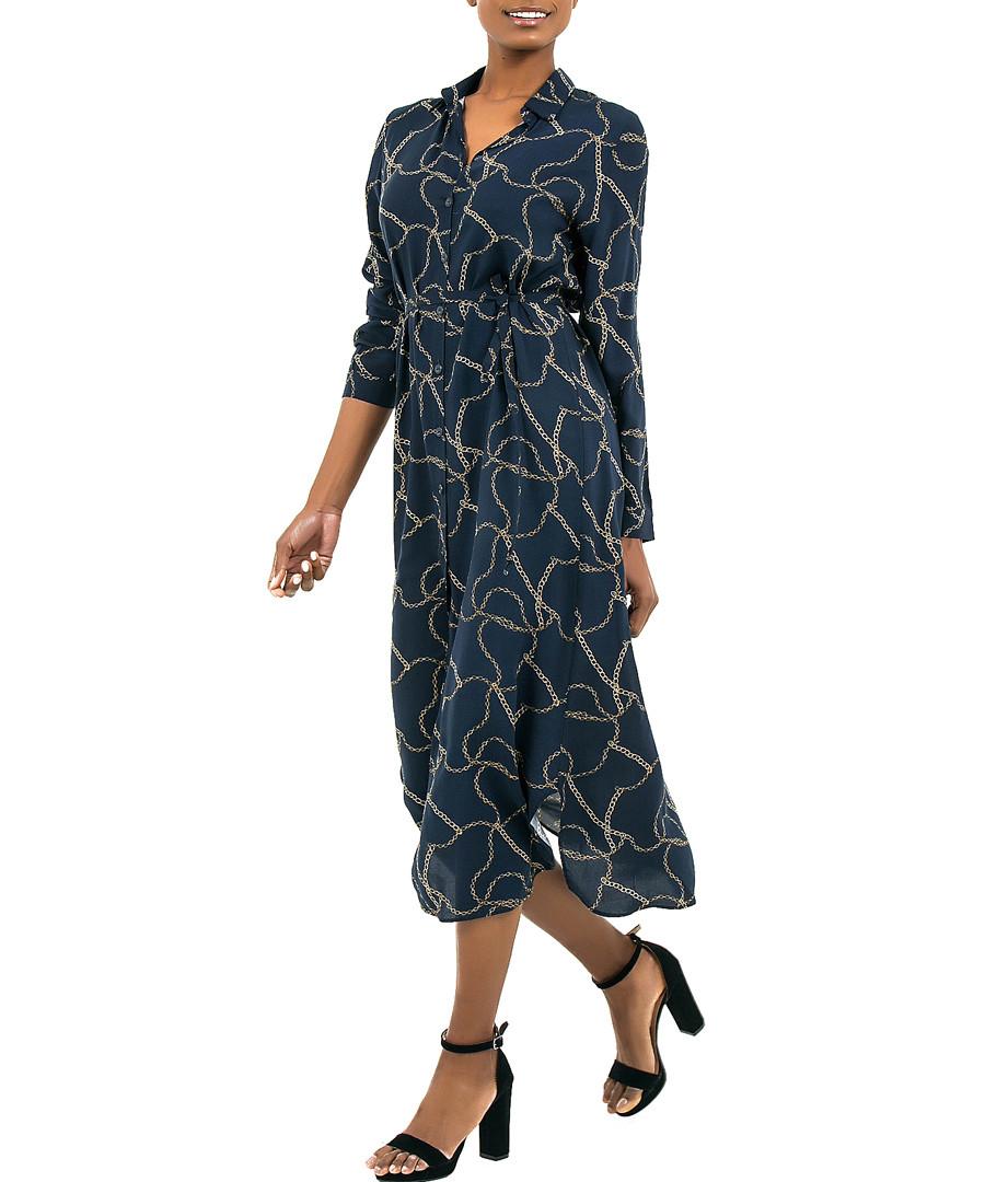 marine blue rope midi dress Sale - zibi london