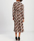 Brown tile straight midi dress Sale - zibi yoyo collection Sale
