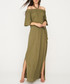 khaki halterneck maxi dress Sale - zibi london Sale