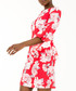red floral bell-sleeve mini dress Sale - zibi london Sale
